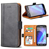 Samsung Galaxy A5 2017 Case, Bozon Wallet Case for Galaxy A5 2017 Flip Folio Leather Cover with Stand/Card Slots and Magnetic Closure (Dark Grey)
