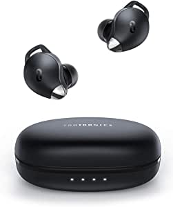 True Wireless Earbuds TaoTronics SoundLiberty 79 Smart AI Noise Reduction Technology for Clear Calls, Single/Twin Mode, 30H Playtime, USB Type C, IPX8 Waterproof, with Charging Case, SILVER BLACK