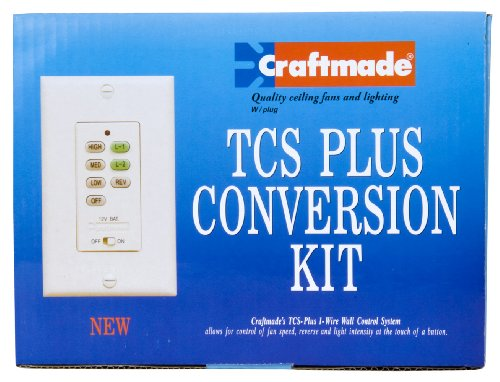 Craftmade AT52BN Wall Unit Remote Total Control System Upgrade Kit, Brushed Nickel