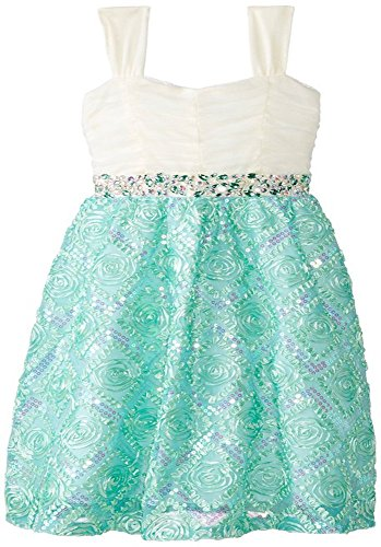 Rare Editions Big Girls' Mint and Ivory Party Dress, Mint, (Rare Editions Holiday Dress)