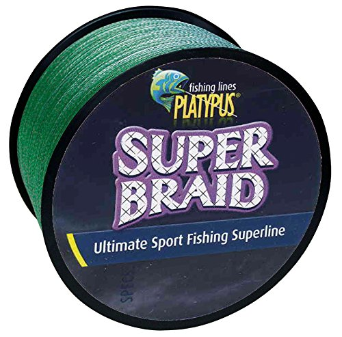 Yard 150 Spool Green Braid - Platypus Super-Braid Ultimate Sport Fishing Line (Dark Green) - Making the World's Best Fishing Line Since 1898! (150 yard spool, 15 lb)