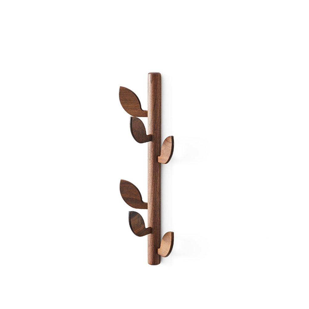 Tree solid wood hanger,Entrance bedroom simple clothes rack home wall coat hat rack wall-mounted simple and modern coat rack-B 58x20cm(23x8inch) by LANGMANZHUYI (Image #1)