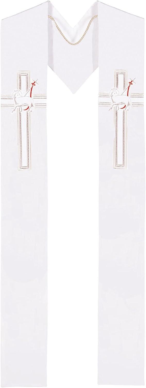 Lamb - White Clergy Stole: Clothing