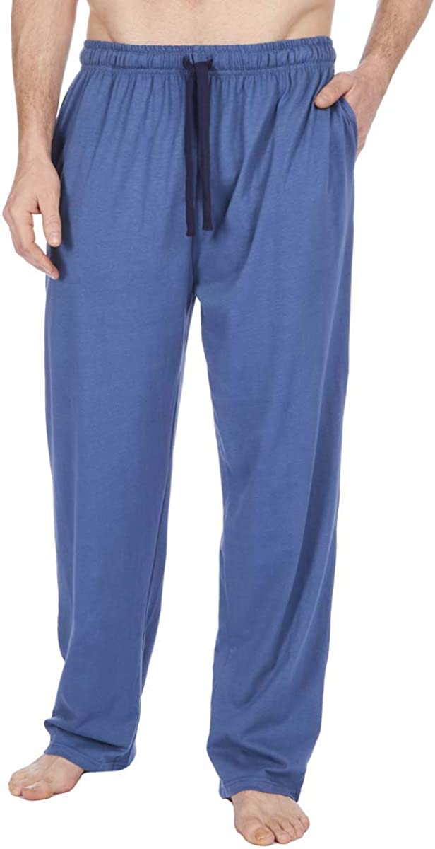 da Uomo Pigiama Lounge Pantaloni Lunghi Morbido Jersey Cotone Basics Insignia Tinta Unita