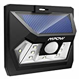 Mpow 2-Pack Bright Solar Power Outdoor LED Light Motion Activated Light for Garden Patio Path Pool