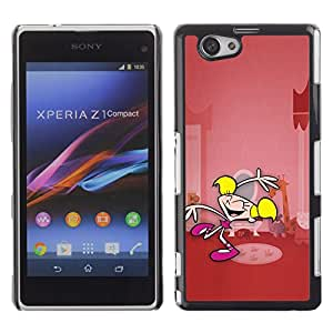 Impact Case Cover with Art Pattern Designs FOR Xperia Z1 Compact D5503 Cartoon Superhero Girl Pink Character Betty shop