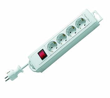 REV® Steckdosenleiste mit 2 Schaltern 9-fach 3,7m und Kinderschutz H05VV-F 3G1,5