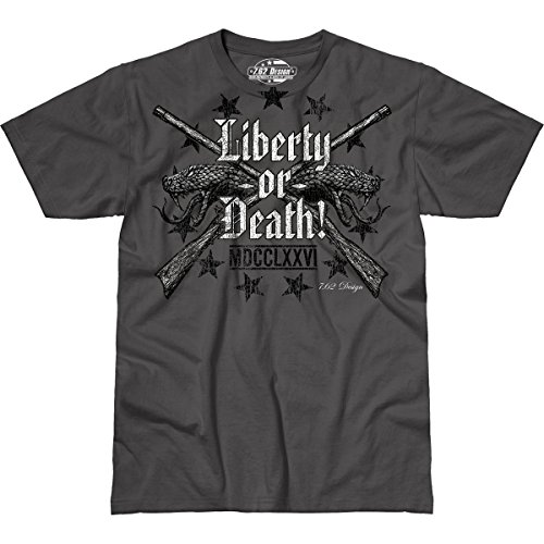 7.62 Design Liberty or Death' Men's Jumbo Print T-Shirt 2X (Design T-shirt 7.62 Print)