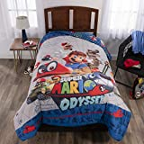 Nintendo Super Mario Caps Off Twin/Full Comforter, Double Sided