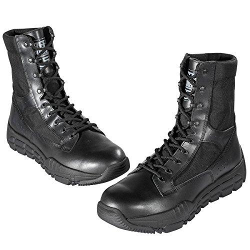 Botas de senderismo Free Soldier, botas de patrulla táctica, excelentes zapatos de piel, botas desierto para combate negro
