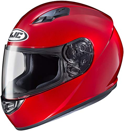 HJC Solid Adult CS-R3 Street Motorcycle Helmet - Candy Red/Large