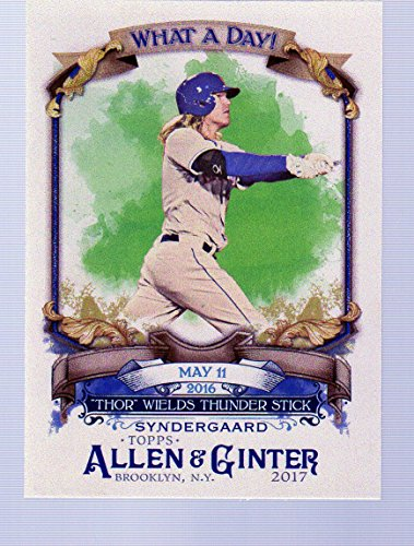 2017 Topps Allen and Ginter What a Day #WAD57 Noah Syndergaard New York Mets