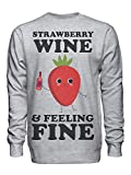 graphke Strawberry Wine and Feeling Fine Unisex Crew Neck Sweatshirt Small
