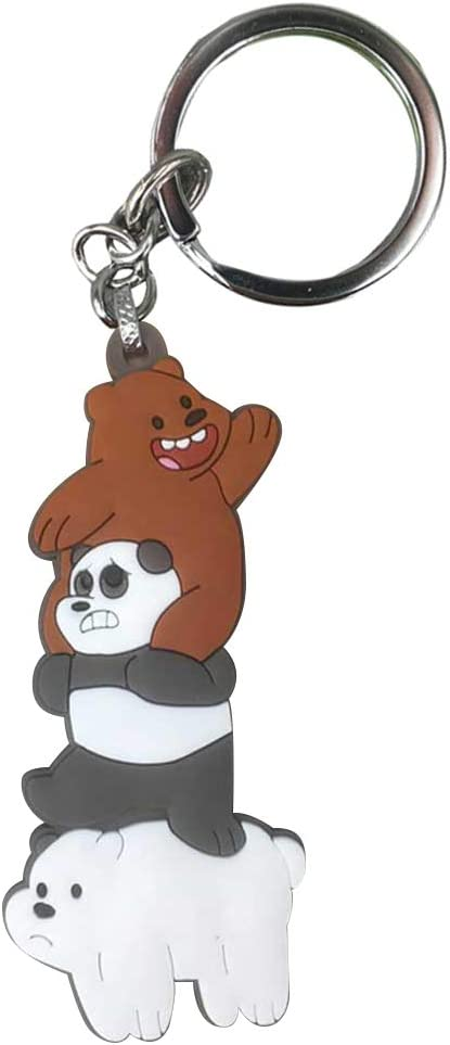 We Bare Bears Grizzly Panda Ice Bear Keychain Key ring Pendant