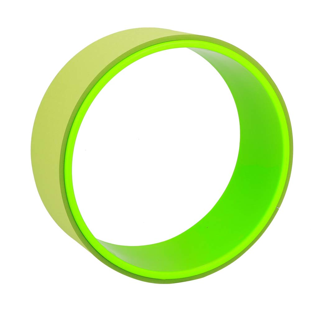 Zerone Yoga Wheel, Yoga Stretch Roller Wheel Indoor Abdominal Exerciser Fitness Equipment Tackle(Green)