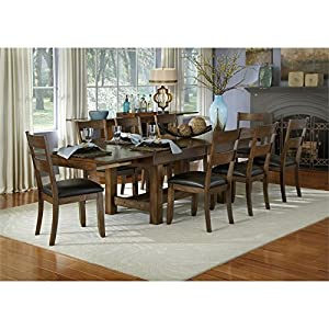 A America Mariposa 9 Piece Extendable Dining Set In Rustic Whiskey