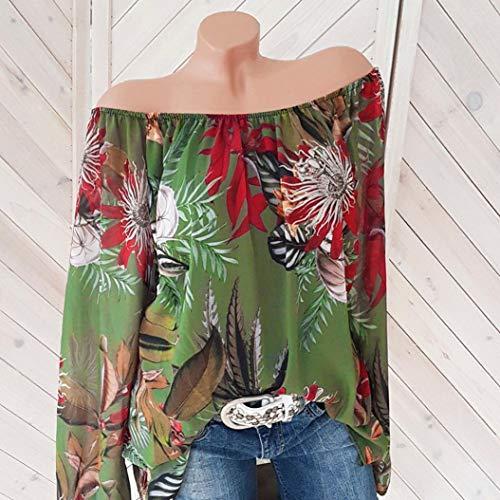 Shirt Violet XXL XL dnudes XXXL S Tops Jaune Imprim Challeng Femme M Pull Floral XXXXL Plus Blanc Blouse Manches Veste Femmes Taille XXXXXL Hiver Longues L vert paules Chemisier Vert zHwSF47qz