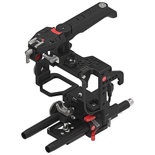 JTZ DP30 JL-JS7 Electronic Camera Cage Video Stabilizer Rig w/ 15mm Rail Rod Base Plate,Top Handle for SONY A9,A7 III,A7R III,A7S III,A7III,A7RIII,A7SIII Mirrorless Camera (Zoom,Focus,REC ()