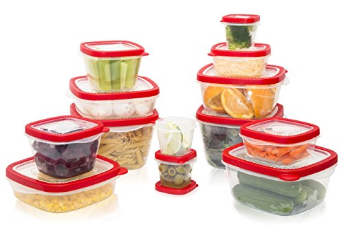 Handi-Ware Food & Freezer Storage Container Set, 26pc, Snap Tight Lid & Vent Cap, BPA-Free, Freezer-Safe, Microwave-Safe, by Unity (Container Ware)