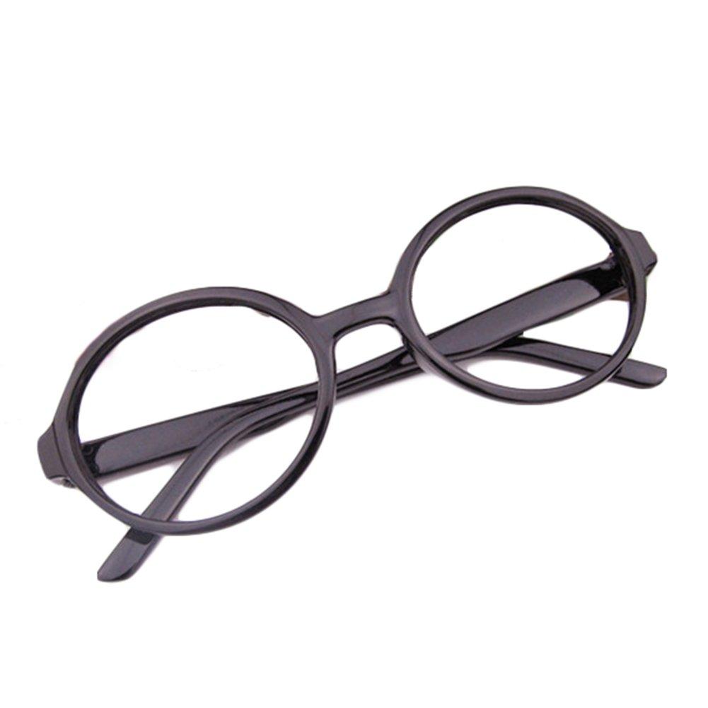 Hibote Ragazze Ragazzi Occhiali Rotondi - occhiali chiaro lenti geek/nerd retrò occhiali con occhiali caso X170929ETYJJ0604-X