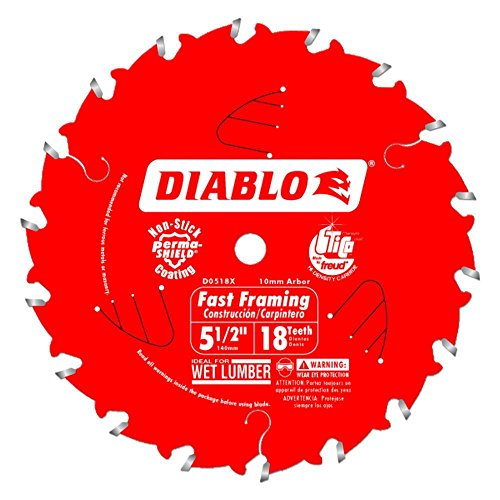 Freud D0518x 5-1/2-Inch x 18 Tooth Framing Circular Saw Blade