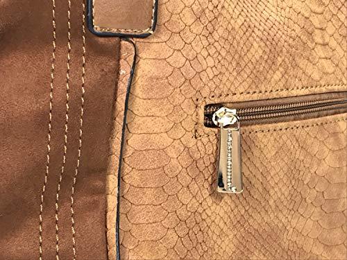 Marrón Bolso Sintético mujer collezione de Claro hombro para al alessandro q4HwOxC8f