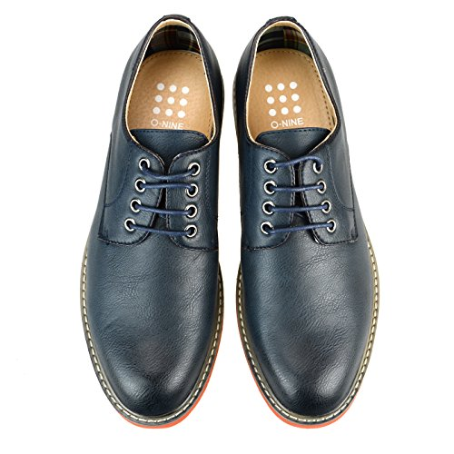 Round up Toe Smooth Shoes O NINE Mens Navy Ms1300 Casual Lace Derby Shoes Flat qfnzZxw1p