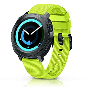 ANCOOL Compatible Gear Sport Band Replacement 20mm Silicone Watch Band Compatible Samsung Gear Sport/Gear S2 Classic R732/Galaxy Watch (42mm)/Ticwatch E/Ticwatch 2 - Small Green