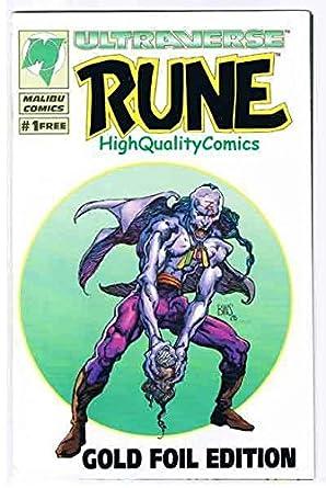 Amazon com: RUNE #1 GOLD, VF+, Ashcan, Promo, Barry Smith, Malibu