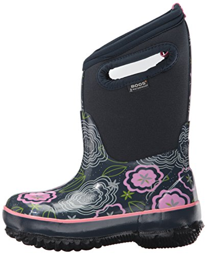 Bogs Classic High Waterproof Insulated Rubber Neoprene Rain Boot Snow, Posey Print/Dark Blue/Multi, 3 M US Little Kid by Bogs (Image #5)