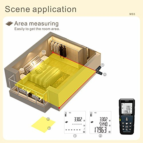 uMeasure Laser Measure 328ft Handheld Digital Rangefinder Laser Distance Meter Measure Distance...