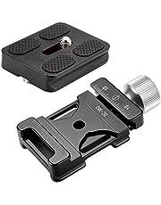 Neewer® dC-38q schroefknop, klem snelwisselplaat + metaal PU-50 universele snelwisselplaat