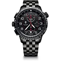 Victorinox Men's 'Airboss Black Edition' Automatic Stainless Steel Aviator Watch, Color:Black (Model: 241742)