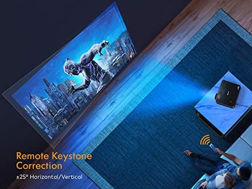 """PROJECTOR, APEMAN NATIVE 1920X1080P HD PORTABLE PROJECTOR, SUPPORT 4K, 300"""" SCREEN FOR HOME THEATER/OUTDOOR MOVIE, 4D ELECTRONIC KEYSTONE, 75% ZOOM, FOR SMARTPHONE,PC,XBOX,PS4,TV STICK(2021 UPGRADE)"""