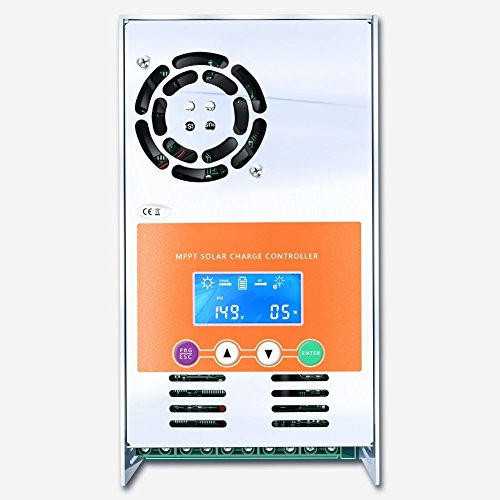 PowMr 60amp 48V 36V 24V 12V Auto MPPT Solar Charge Controller Max 190VDC Input LCD Backlight Solar Charge for Vented Sealed Gel NiCd Lithium Battery (60A) by PowMr