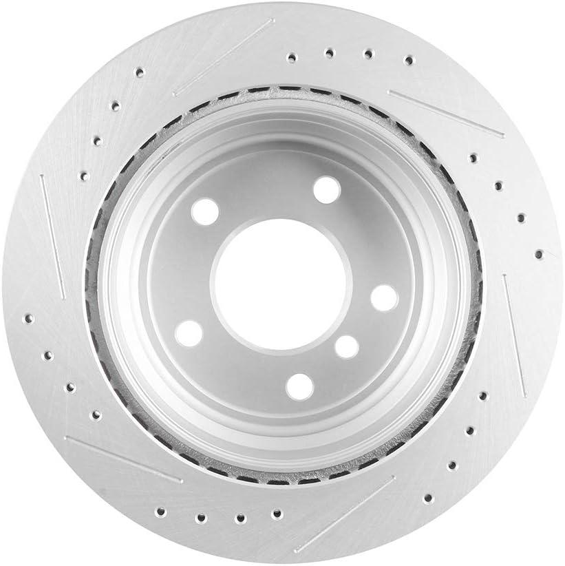 2011-2012 BMW 328i xDrive Rear eLine Plain Brake Disc Rotors /& Ceramic Brake Pad