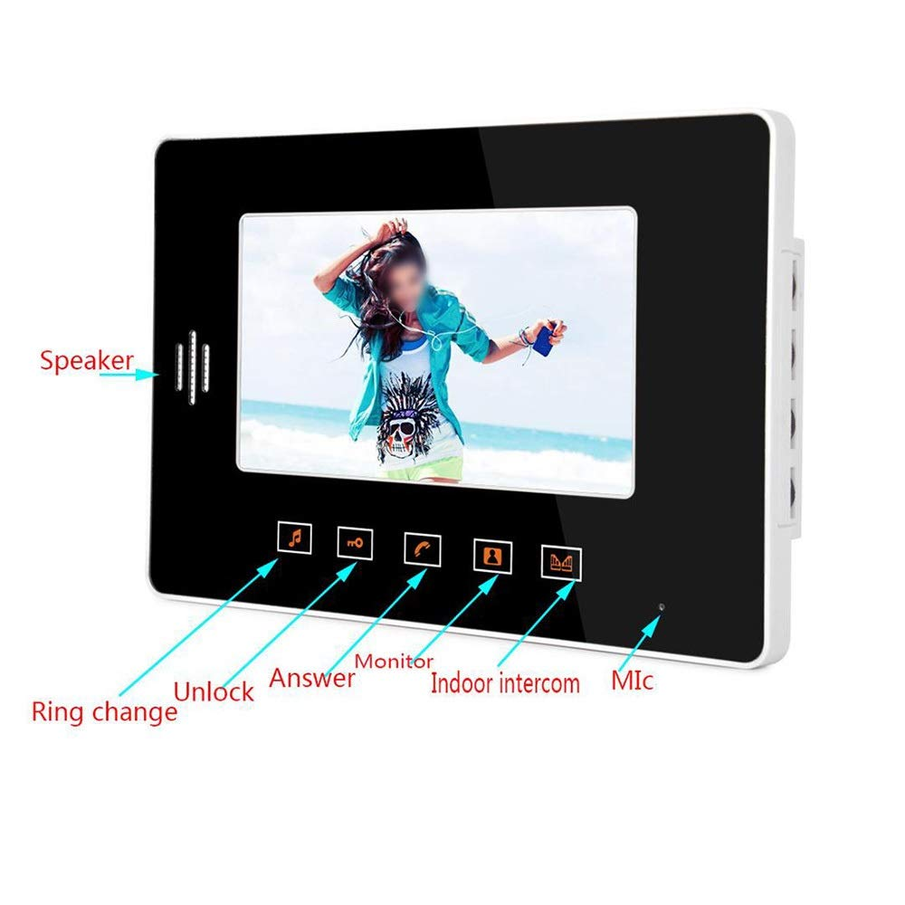 KRPENRIO HD villa type 7 inch visual building intercom doorbell night vision rain by KRPENRIO (Image #5)