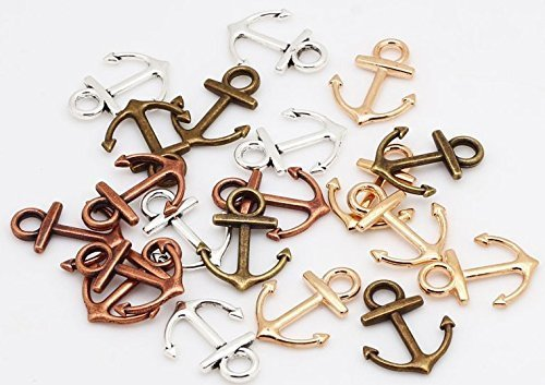 95-PC-Nautical-Anchor-Charm-Pendants-19x15mm-Sailor-Navy-Jewelry-Making-DIY