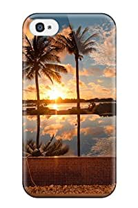 4/4s Scratch-proof Protection Case Cover For Iphone/ Hot Sunset Landscape Phone Case