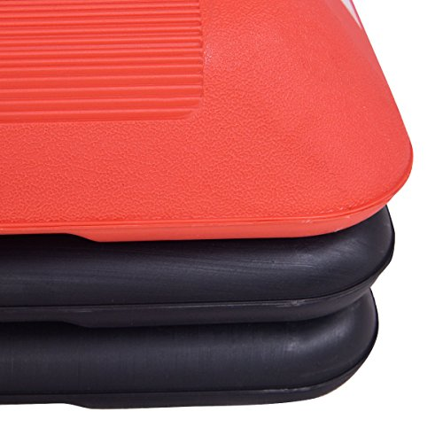 Red Trapezoid 43'' Aerobic Stepper Adjustable Height for Work Out by FDInspiration (Image #5)