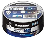 Panasonic Blu-ray BD-R Recordable Disk 25GB 4x Speed 30 Spindle Pack Printable Made in Japan