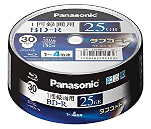 Panasonic Blu-ray BD-R Recordable Disk 25GB 4x Speed 30 Spindle Pack Printable Made in Japan (japan import)