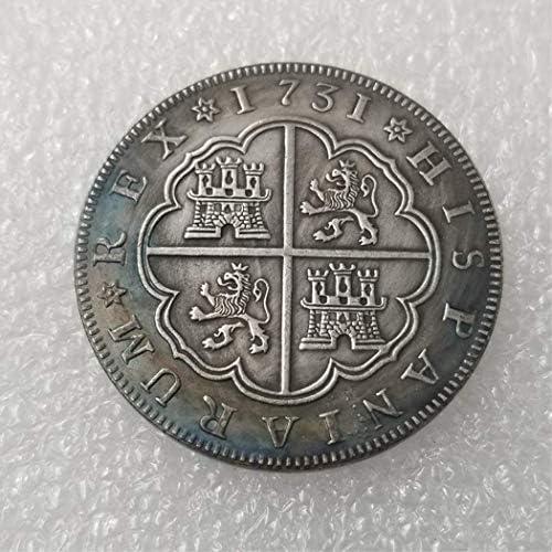 YunBest Moneda Conmemorativa 1731 Antigua España Antigua – Monedas Americanas – Brillantes Monedas Antiguas sin Circular – Deeply Miss Our Motherland Coins BestShop: Amazon.es: Hogar