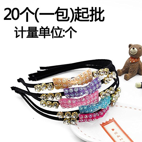 2336 glitter tie fastening the drill steel head 20 made from diamond hoop hairpin cave headband 2 yuan for women girl lady