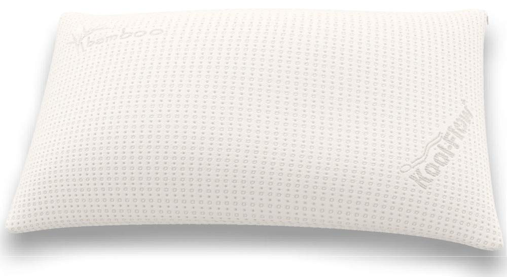 Snuggle-Pedic Supreme Plush Ultra-Luxury Hypoallergenic Bamboo Shredded Gel-Infused Memory Foam Pillow Combination with Adjustable Fit & Zipper Removable Kool-Flow Cooling Pillow Cover (King)