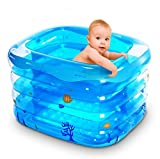 DU&HL Baby Pool, Baby Inflatable Pool Tub (S: 120cm; L140cm) , L