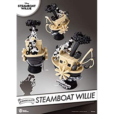 Beast Kingdom DS-017 Steamboat Willie D-Stage Series Statue, Multicolor: Toys & Games
