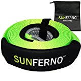Ultimate Tow Recovery Strap 35000lb - Recover Your Vehicle Stuck in Mud/Snow - Heavy Duty 3'' x 20' Winch Snatch Strap - Protective Loops, Water-Resistant - Off Road Truck Accessory - Bonus Storage Bag