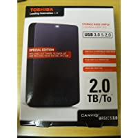 Toshiba 2TB Portable Hard Drive with USB 3.0 and Full System Backup function