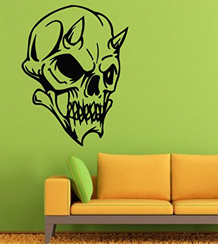 Halloween Wall Decals – Vinyl Halloween Stickers Men Kids – Horror Stickers Car Truck Mouse Animal Silhouette Black Undead LM2102 -  Assorted Decals